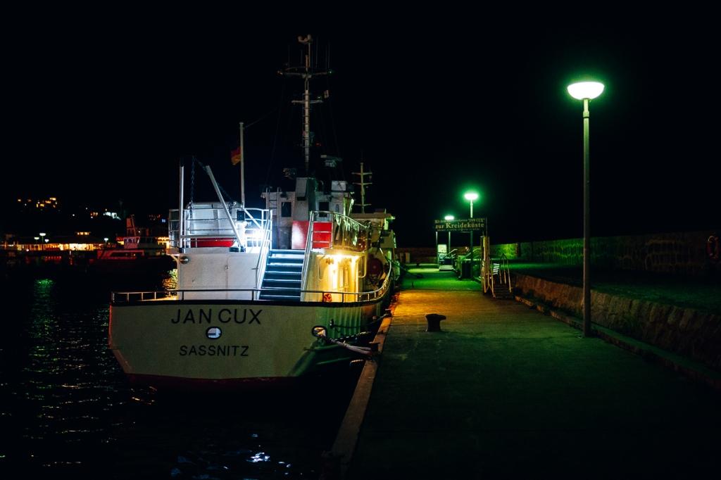 Abendstimmung im Hafen von Rügen